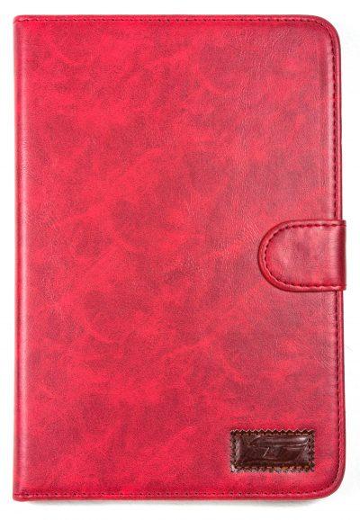 iPad Mini 2 NoteFolio YogaCaseTM Magnetic Snap Closure Folio Case With Stand Red