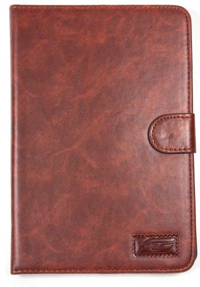 iPad Mini 2 NoteFolio YogaCaseTM Magnetic Snap Closure Folio Case With Stand Brown
