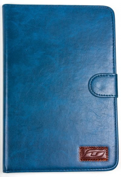 iPad Mini 2 NoteFolio YogaCaseTM Magnetic Snap Closure Folio Case With Stand Blue