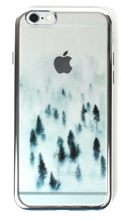IPhone 6 / 6s Case, YogaCase MetalEdge Cover  (Wispy Forest Silver)