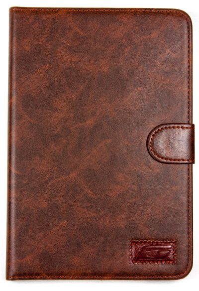 iPad Mini 2 NoteFolio YogaCaseTM Magnetic Snap Closure Folio Case With Stand Dark Brown