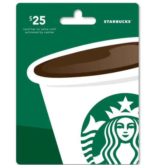 Win a 25$ Starbucks card!