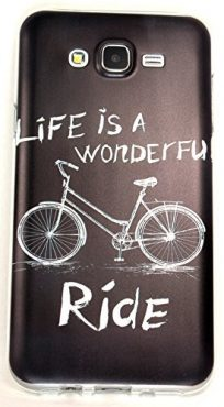 Samsung Galaxy J7 Case, YogaCase InTrends Cover (Bicycle Wonderful Ride)