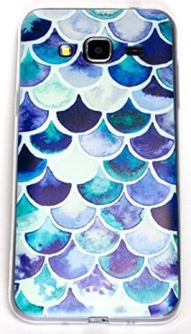 Samsung Galaxy J7 Case, YogaCase InTrends Cover (Blue Scales)