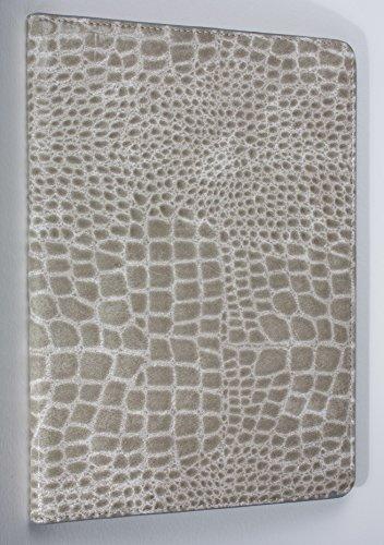 iPad Pro 9.7″ YogaCase Crocodile Alligator Pattern Case Cover White