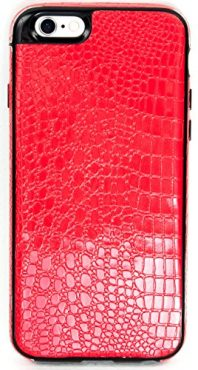 iPhone 6/6S YogaCase SnakeSkin Phone Cover Case (Red)