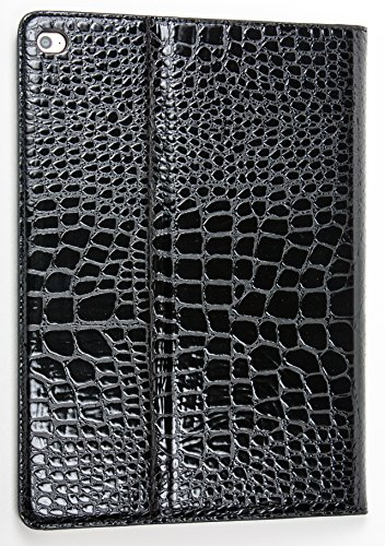 iPad Pro 9.7″ YogaCase Crocodile Alligator Pattern Case Cover Black