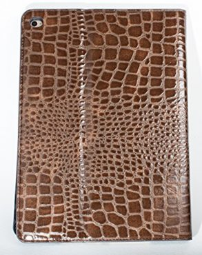 iPad Pro 9.7″ YogaCase Crocodile Alligator Pattern Case Cover Brown