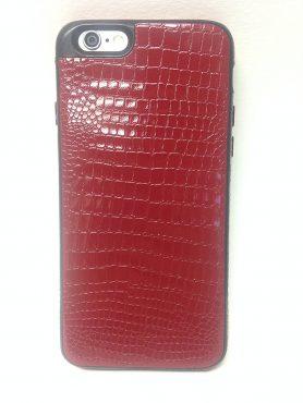 iPhone 6/6S YogaCase SnakeSkin Phone Cover Case (Dark Red)