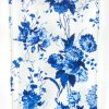 iPhone 7 Case, YogaCase InTrends Silicone Back Protective Cover (Blue Flowers)