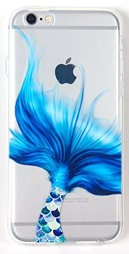Iphone SE Case w/ Tempered Glass Screen Protector, YogaCase InTrends Cover (Mermaid Tale)