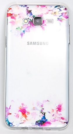 Samsung Galaxy J7 Case, YogaCase InTrends Back Protective Cover (Watercolor Flowers) [Wireless Phone Accessory]