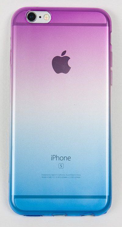 iPhone 6 Plus / 6s Plus Case, YogaCase ColorGradient Slim Fit Transparent Fade Purple to Blue