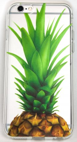 Samsung Galaxy S7 Edge Case, YogaCase InTrends Silicone Back Protective Cover (Big Pineapple)