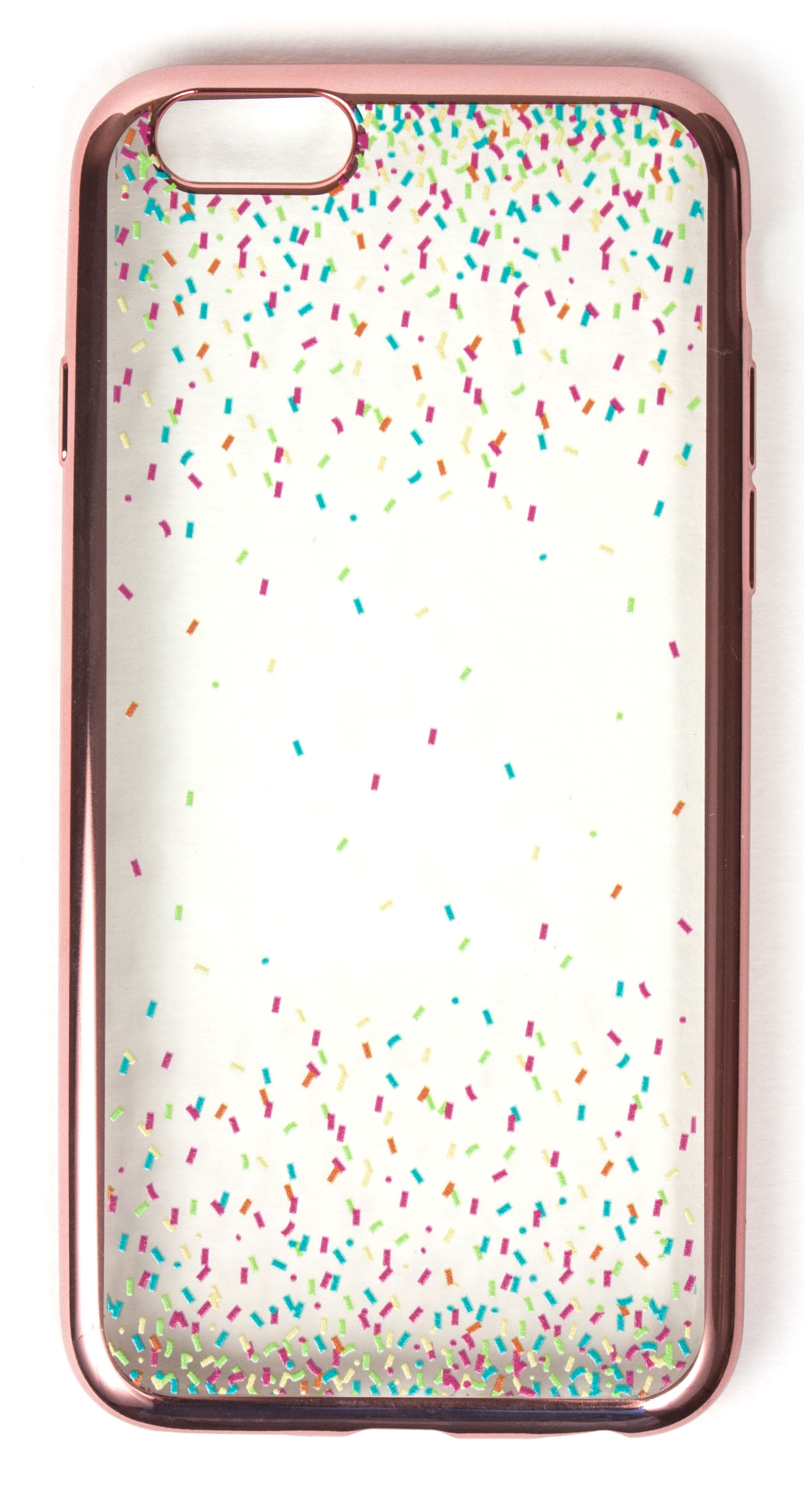 Samsung Galaxy S7 Case, YogaCase MetalEdge Silicone Back Protective Cover (Confetti Rose Gold)
