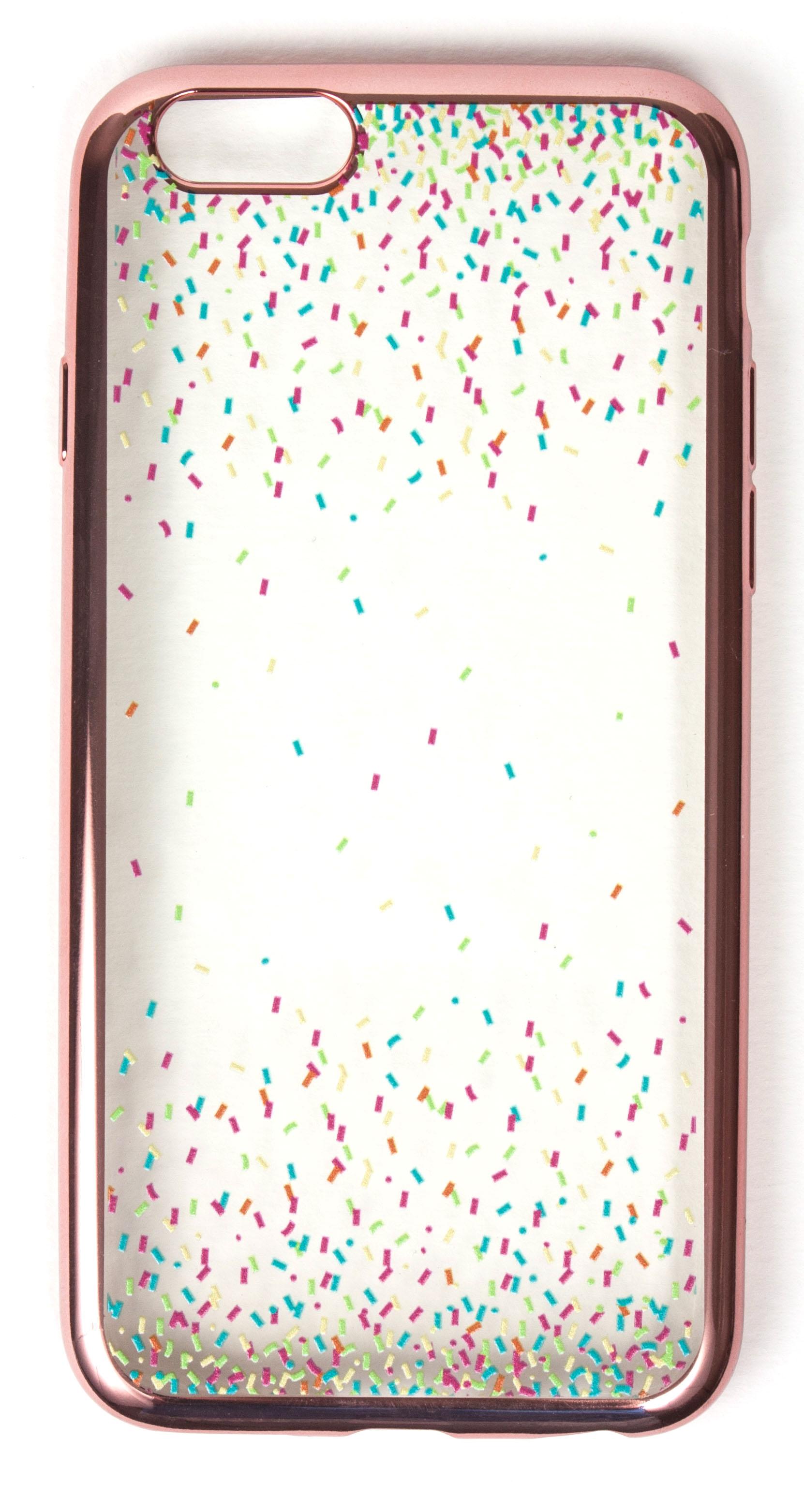 Samsung Galaxy S5 Case, YogaCase MetalEdge Silicone Back Protective Cover (Confetti Rose Gold)