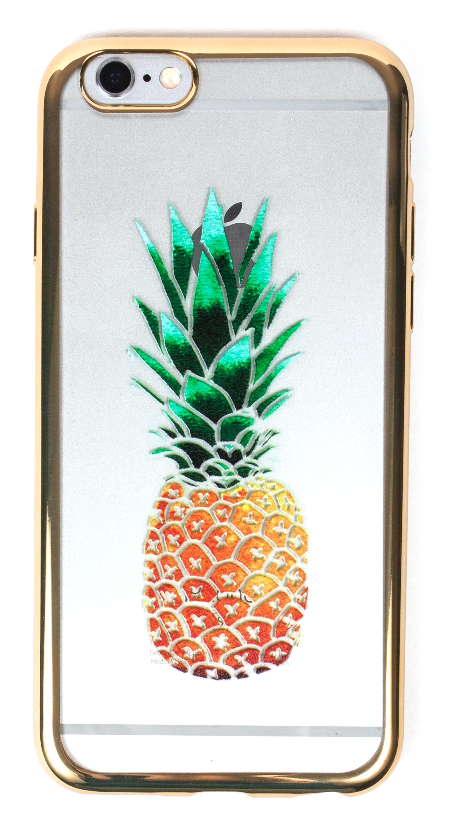 Samsung Galaxy S5 Case, YogaCase MetalEdge Silicone Back Protective Cover (Pineapple Gold)