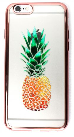 Samsung Galaxy J7 Case, YogaCase MetalEdge Silicone Back Protective Cover (Pineapple Rose Gold)