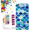 Samsung Galaxy S7, YogaCase InTrends Silicone Back Protective Cover ( Blue Scales)