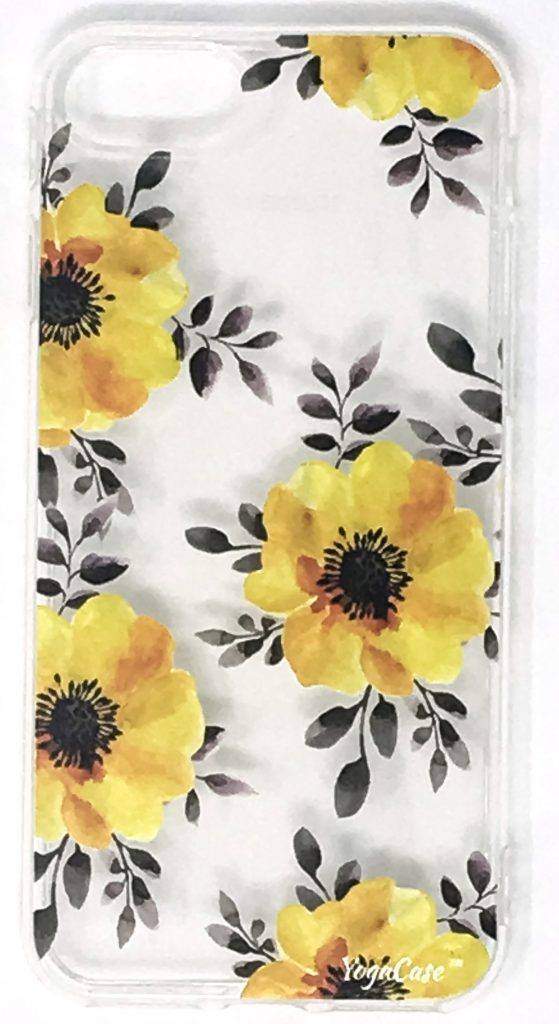 Iphone 8+ Case, YogaCase InTrends Silicone Back Protective Cover (Yellow Flowers)