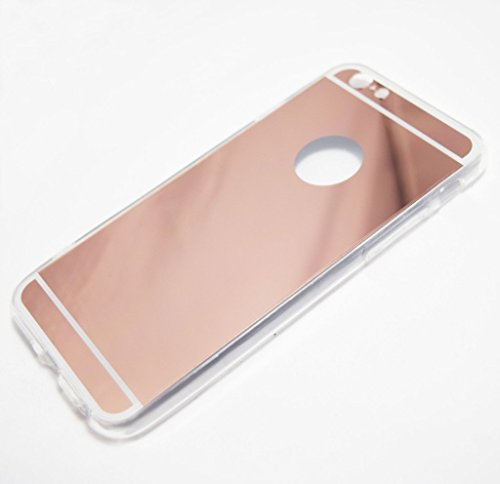 new styles 4313b 59c73 IPhone 6/6s Case, YogaCase Mirror Metallic Clear Soft Silicone Back  Protective Cover (Rose Gold) - YogaCase