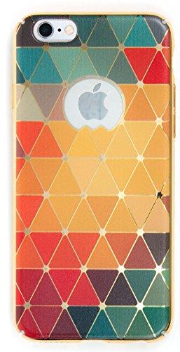IPhone 6/6S Case, YogaCase MetalLuxe Luxury Design Metal iPhone Cover (Rainbow Triangles)