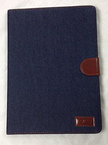iPad Air 2 True Denim YogaCase™ Magnetic Snap Folio Case With Stand Dark Blue