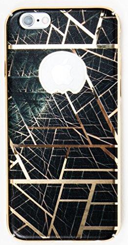IPhone 6/6S Case, YogaCase MetalLuxe Luxury Design Metal iPhone Cover (Black Lines)