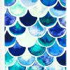 IPhone 6/6s Case, YogaCase InTrends Back Protective Cover (Blue Scales)