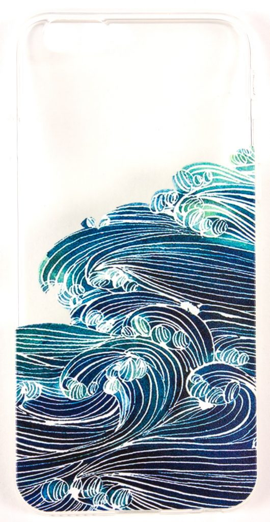 Samsung Galaxy S5 Case, YogaCase InTrends Silicone Back Protective Cover (Japanese Wave)