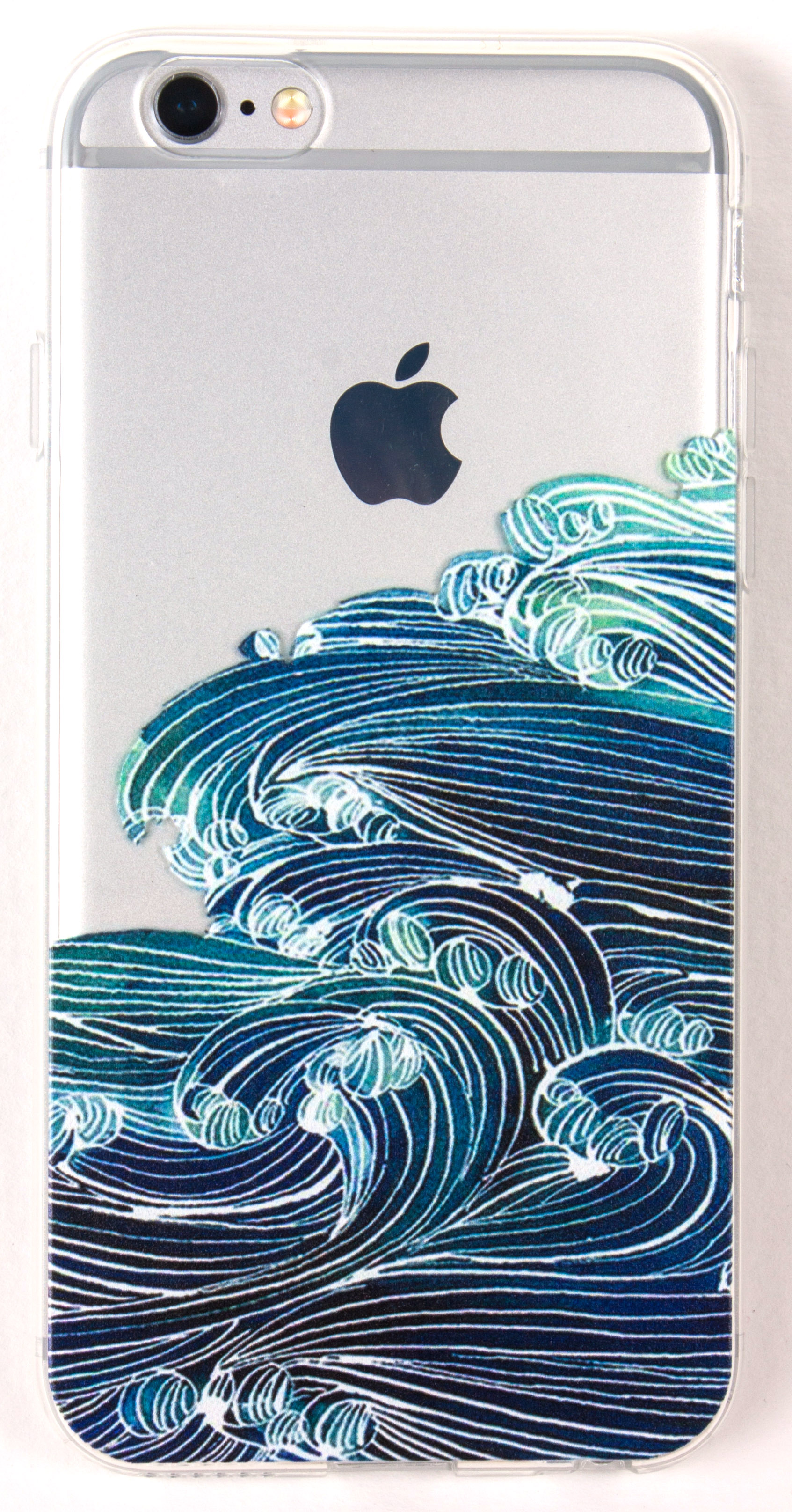 iPhone 7 Plus Case, YogaCase InTrends Silicone Back Protective Cover (Japanese Wave)