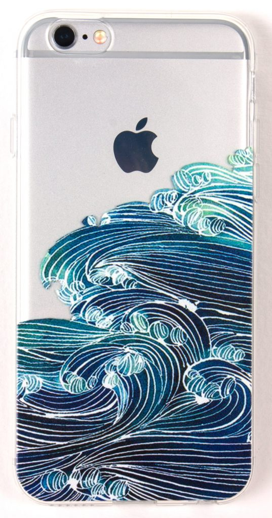 IPhone SE Case, YogaCase InTrends Silicone Back Protective Cover (Japanese Wave)