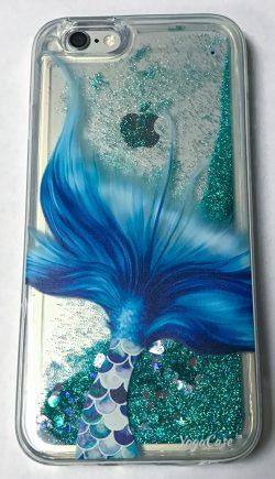 iPhone 5c Case, YogaCase Liquid Glitter Back Protective Cover (Mermaid Tale)