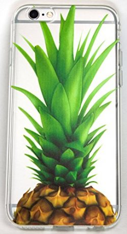 iPhone 7 Case, YogaCase InTrends Silicone Back Protective Cover (Big Pineapple)
