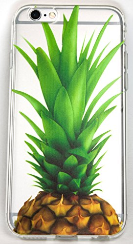 iPhone 7 Plus Case, YogaCase InTrends Silicone Back Protective Cover (Big Pineapple)