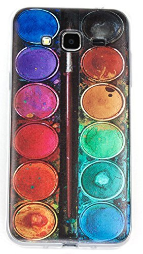 Samsung Galaxy S7 Edge Case, YogaCase InTrends Silicone Back Protective Cover (Colorful Life Watercolor Paints)