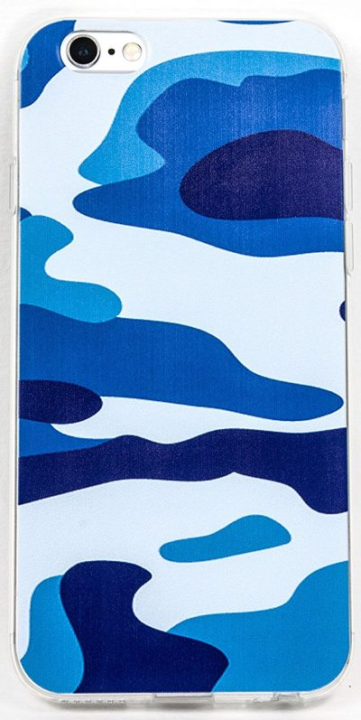 IPhone 6/6s Case, YogaCase InTrends Back Protective Cover (Blue Camo)