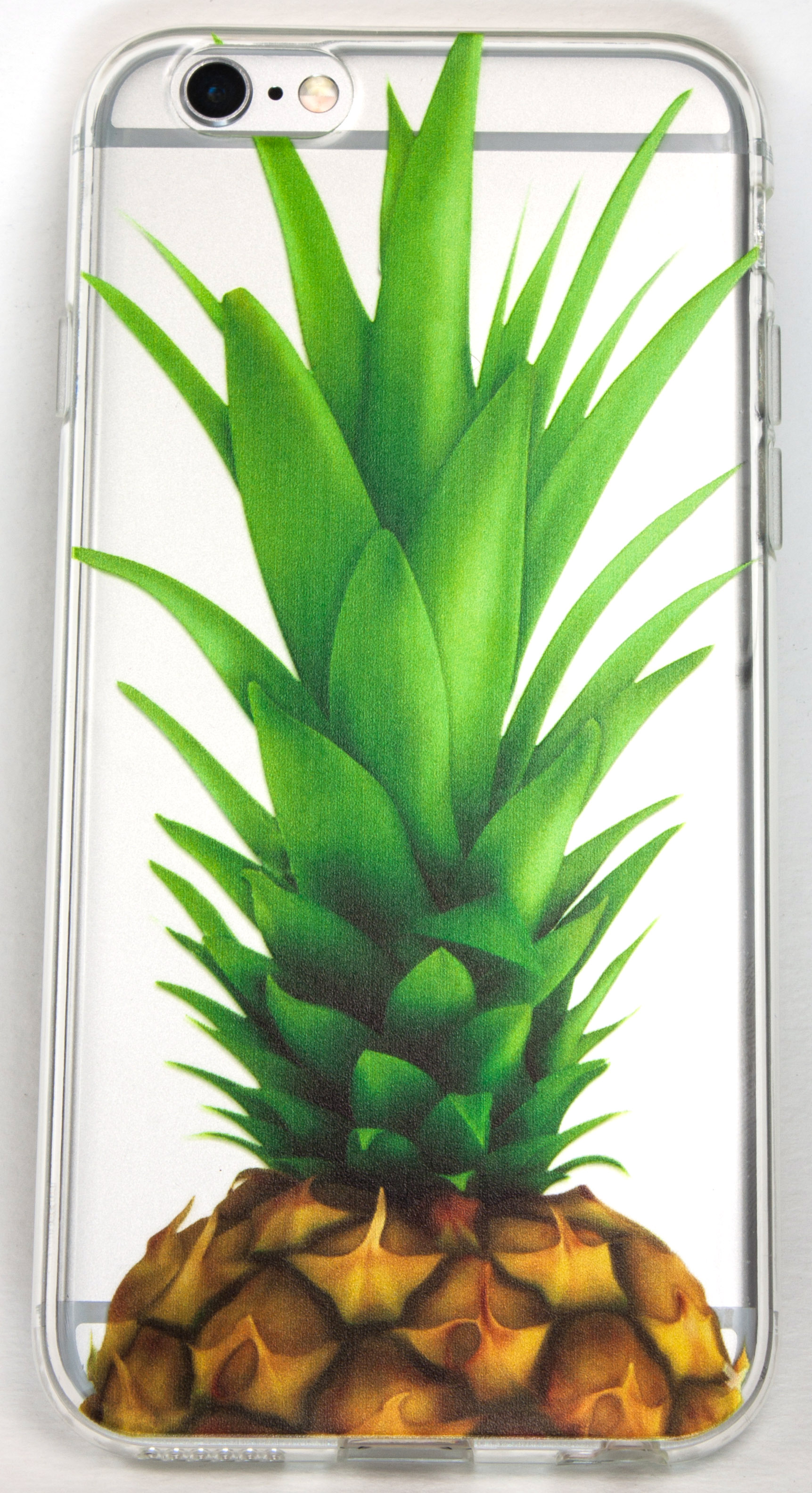 Samsung Galaxy S6 Edge Case, YogaCase InTrends Silicone Back Protective Cover (Big Pineapple)