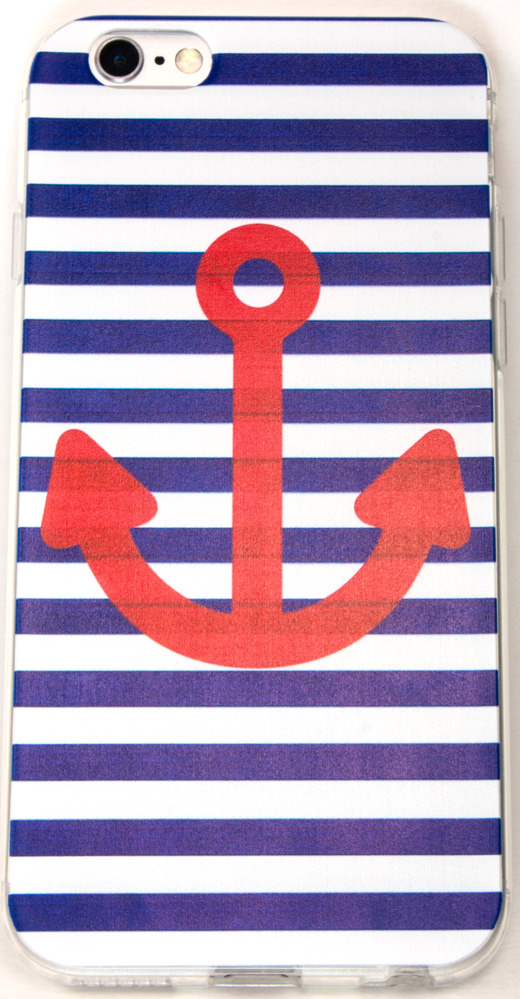 IPhone 6/6s Case, YogaCase InTrends Back Protective Cover (Anchors Away Navy Sailor)